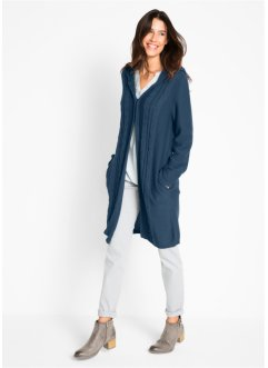 Long-Strickjacke mit Kapuze, bpc bonprix collection