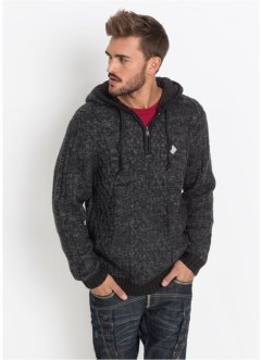 Kapuzen-Pullover Slim Fit, RAINBOW
