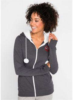 Kapuzen-Sweatjacke mit Kuschelfleece, bpc bonprix collection
