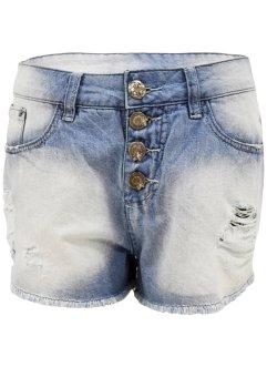 Shorts jeans com efeito destroyed