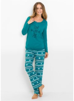 Pyjama mit Schlafmaske, bpc bonprix collection