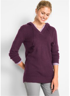 Long-Kapuzenpullover, bpc bonprix collection