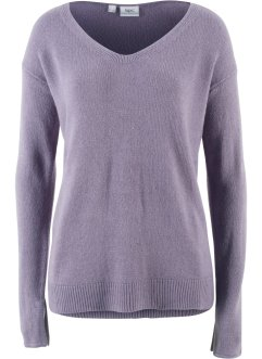 Oversize-Pullover mit Schlitz, bpc bonprix collection
