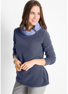Fleece-Shirt mit langen Ärmeln, bpc bonprix collection