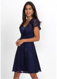 Kleid mit spitze wadenlang