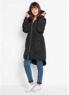 Frauen warme Wolle mit Kapuze Lammfell Langen Baumwollmantel