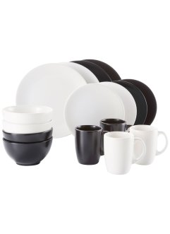 "Geschirr-Set ""Black & White"" (16-tlg. Set), bpc living"