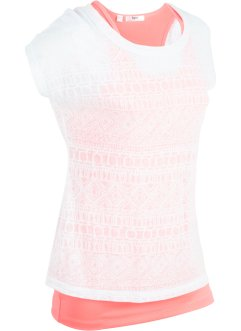 Kurzärmliges 2-in-1-Sportshirt, bpc bonprix collection