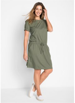 Kleid mit Bindefunktion, kurzarm, bpc bonprix collection