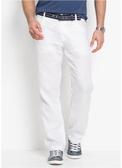Regular Fit, Leinenhose mit Turn-Up, bpc selection