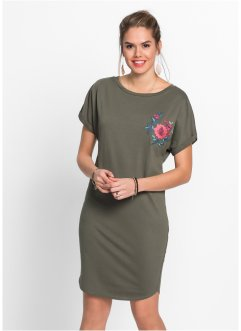 Shirtkleid mit Stickerei, RAINBOW