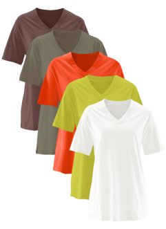 Basic Baumwollshirt Shirt Single-Jersey, bpc bonprix collection