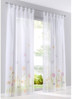 Transparente Gardine mit Blumen (1er Pack), bpc living bonprix collection