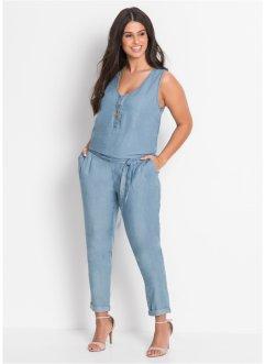 Jeans-Jumpsuit ohne Ärmel in blau von bonprix Bonprix