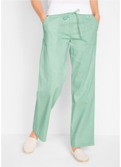 Leinenhose mit weitem Bein, bpc bonprix collection