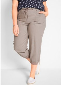 3/4-Leinenhose, Loose-Fit, bpc bonprix collection