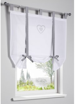 Bio Baumwoll Bindegardine mit Herz Druck, bpc living bonprix collection