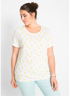 Kurzarmshirt mit Ananas-Druck, bpc bonprix collection