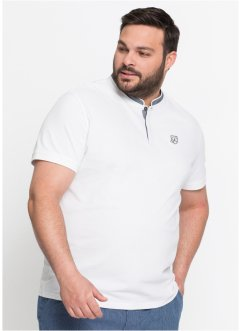 Piqué-Shirt mit Stehkragen Regular Fit, bpc selection