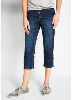 3/4-Boyfriend-Stretch-Jeans mit Rundumrippbund, bpc bonprix collection