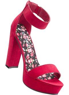 Schnell Express Sandalette Mit 8 Cm Blockabsatz In Pink Von Bonprix