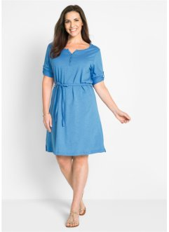 Baumwoll Shirt-Kleid, Halbarm, bpc bonprix collection