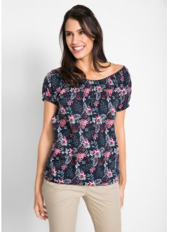 Carmenshirt in 100% Baumwolle, bpc bonprix collection