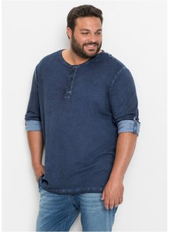 Langarmshirt mit Krempelärmeln Regular Fit, bpc bonprix collection