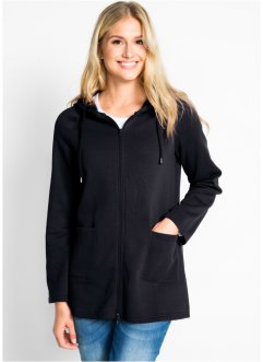 Long-Sweatjacke, bpc bonprix collection
