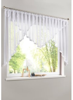 Transparenter Kuvertstore mit Satinband Einfassung, bpc living bonprix collection