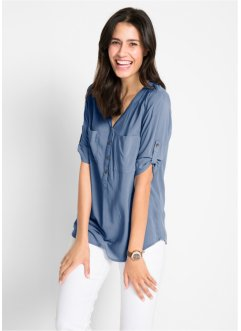 Longbluse aus Viskose, 3/4-Arm, bpc bonprix collection
