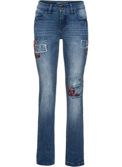 Straight Patch-Jeans, RAINBOW