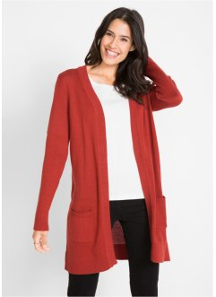 Langarm-Long-Strickjacke