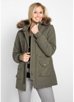 Kurzparka mit Teddyfellimitat, bpc bonprix collection