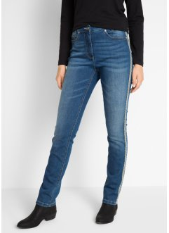 Stretch-Jeans mit dekorativem Tape, bpc bonprix collection