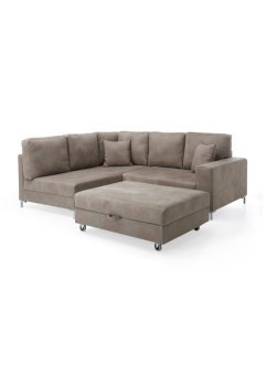 "Ecksofa mit Hocker ""Port"" links, bpc living"