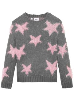 Flauschiger Strickpullover mit Sternen, bpc bonprix collection