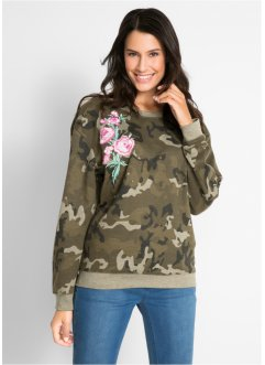 Sweatshirt mit Blumenstickerei – designt von Maite Kelly, bpc bonprix collection