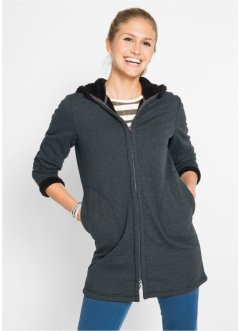 Sweatjacke mit Teddyfell, bpc bonprix collection