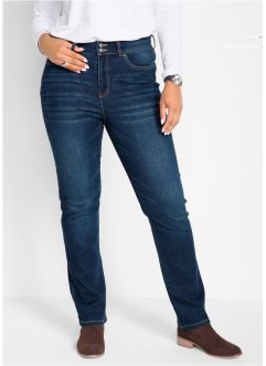 Push-up Stretchjeans mit Bequembund, Straight, bpc bonprix collection