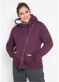 Teddy-Fleece Jacke mit Kapuze, bpc bonprix collection