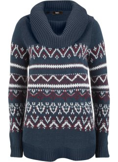 Norweger-Pullover mit weitem Rollkragen, bpc bonprix collection