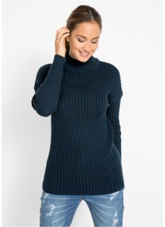 Baumwoll-Pullover mit Stehkragen, bpc bonprix collection