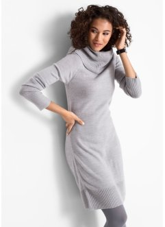 Strickkleid mit Wasserfallkragen, bpc bonprix collection