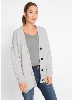 Flausch-Strickjacke, bpc bonprix collection