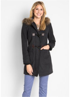 Dufflecoat mit Kapuze und Fake-Fur, bpc bonprix collection