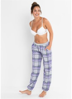 Pyjamahose mit Rippbündchen, bpc bonprix collection