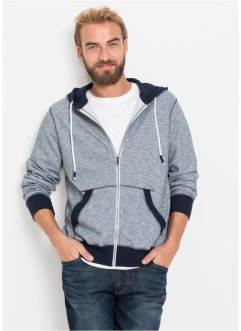 Sweatjacke m. Kapuze meliert, bpc bonprix collection