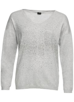 Pullover mit Glitzerapplikation, BODYFLIRT