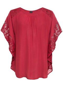 97053db1bc3485 Rote Blusen für einen atemberaubenden Look